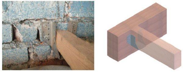 Опора бруса открытая, специализированное крепление для сооружения деревянных перекрытий, служит связующим элементом при соединении несущих балок