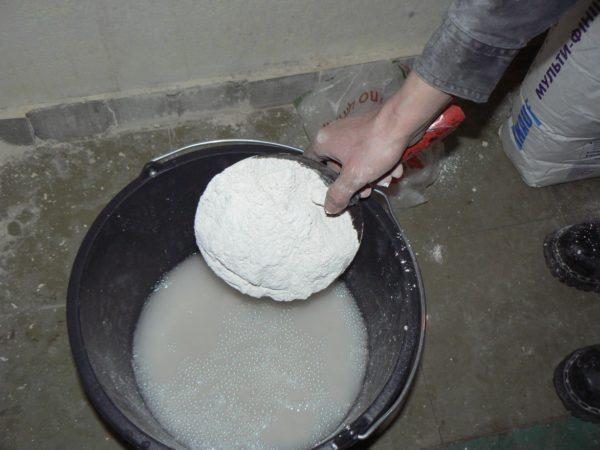 Приготовление раствора из сухих компонентов