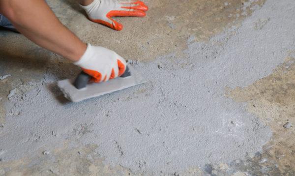 Шпаклевка бетонного основания