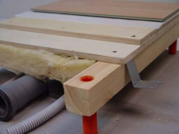Коммуникации внутри конструкции деревянного пола