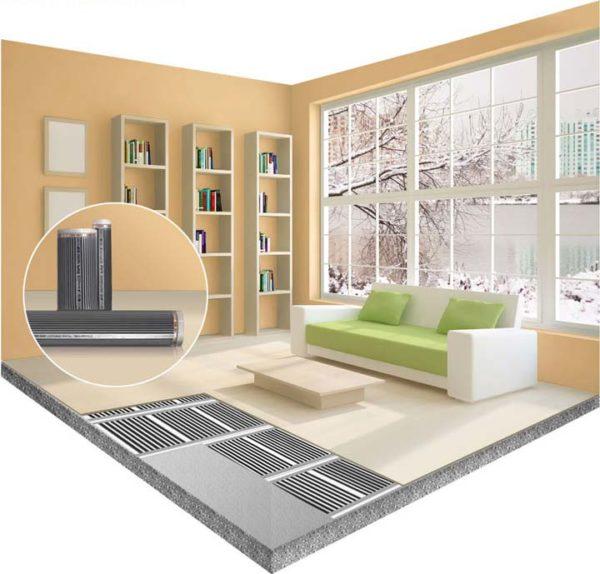 Не прокладывайте теплый пол в тех местах, где располагается мебель и бытовая техника (без ножек)