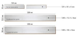 Размеры ламинатной доски