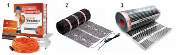 Виды электрического теплого пола под плитку