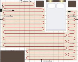 Шаг 1. Расчёт площади подогреваемого пола