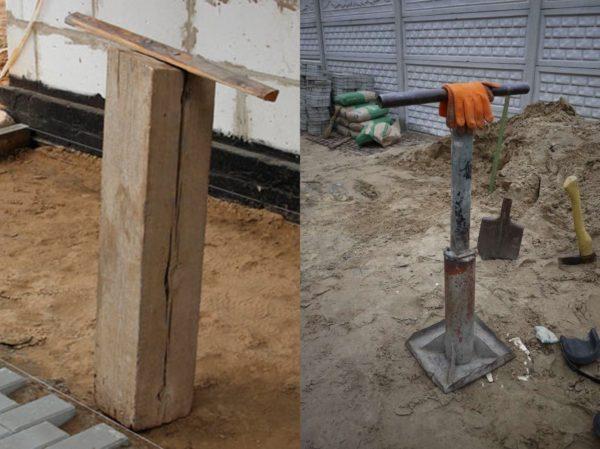 Самодельное устройство для трамбовки песка и щебня