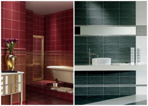 Форма, размер, цвет и рисунок плитки влияют на облик помещения