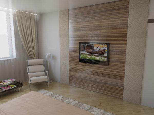 Фото ламината на стене