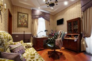 Интерьер в традиционном английском стиле создан для комфортной, элегантной жизни