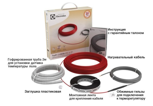 Кабельный теплый пол Electrolux Twin Cable