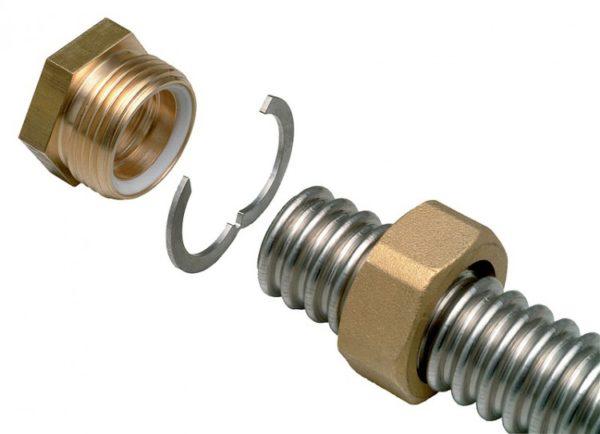 Схема соединения гофрированных труб