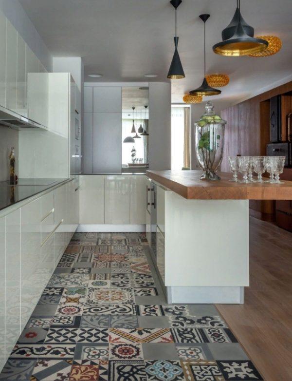 Узорная плитка майолика для кухни