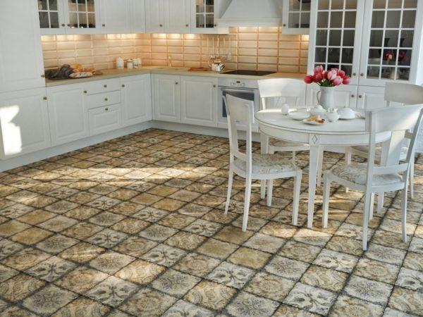 Плитка для кухни на пол
