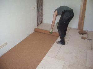 Шаг 7 – настил подложки для финишного покрытия