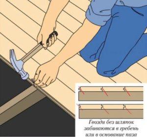 Монтаж на деревянное основание