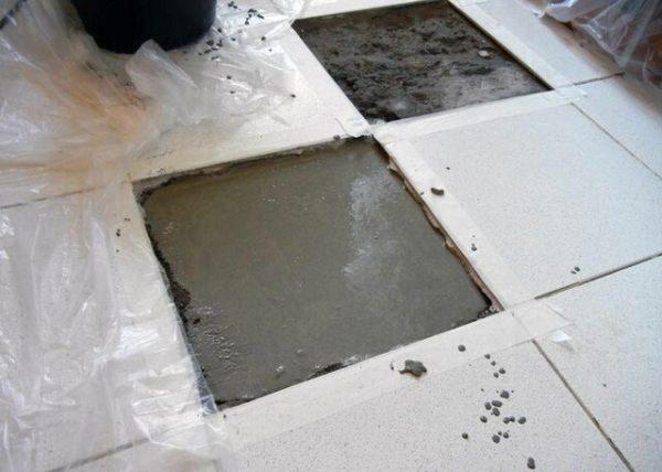 Ремонт плиточного покрытия