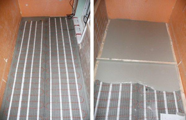 Монтаж стяжки на теплый пол