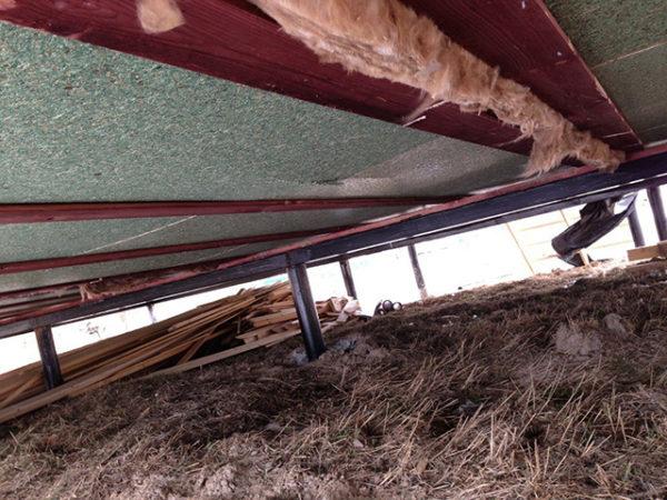 Утепление пола снизу в деревянном доме