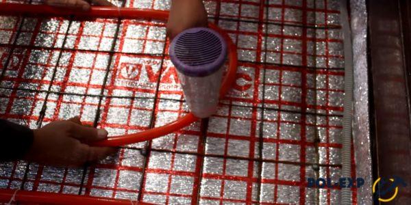 Используйте промышленный фен для нагрева