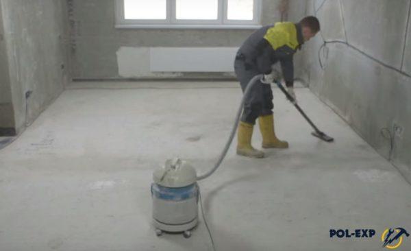Очистка поверхности пылесосом