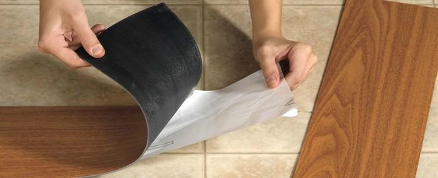 ПВХ-плитки с самоклеящейся основой