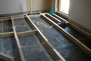 Монтаж деревянного пола на лагах своими руками