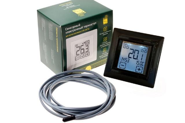 Пример электронного терморегулятора с термодатчиком в комплекте