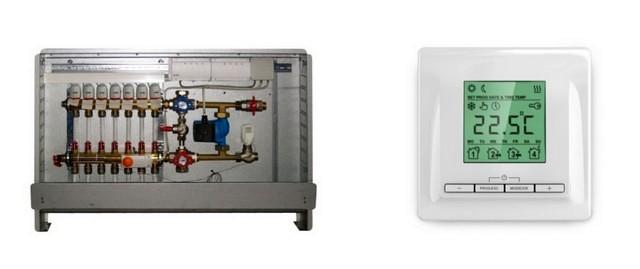 Разница разительная – громоздкий смесительно-коллекторный шкаф или компактный терморегулятор, устанавливаемый в обычное розеточное гнездо.