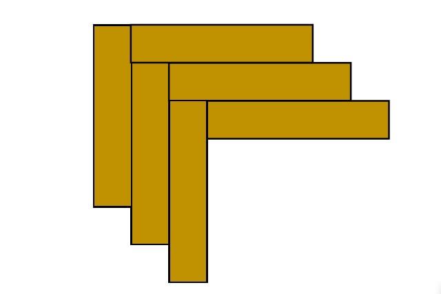 Простейшее изображение принципа кладки паркета рисунком «английская елочка»