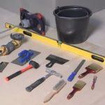 Инструменты необходимые для укладки керамической плитки
