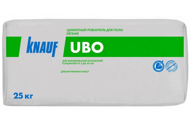 Легкая стяжка с полистирольным наполнением «Knauf UBO». Плотность застывшей стяжки – 600 кг/м³.