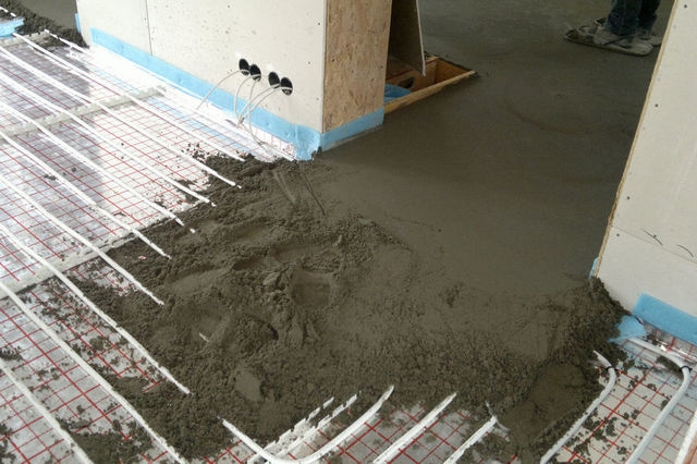 Сколько весит цементно песчаная стяжка