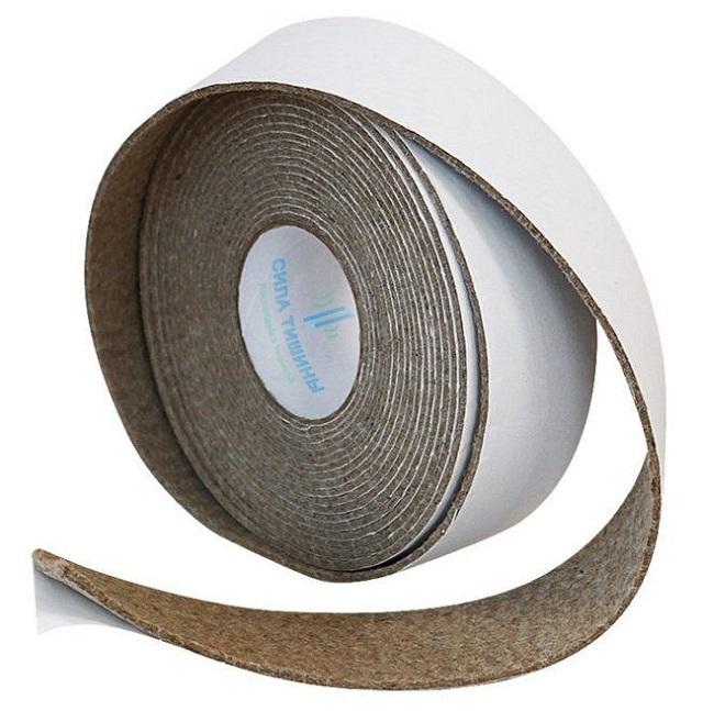 Виброизоляционная лента – препятствует передаче ударных шумов через детали конструкций пола