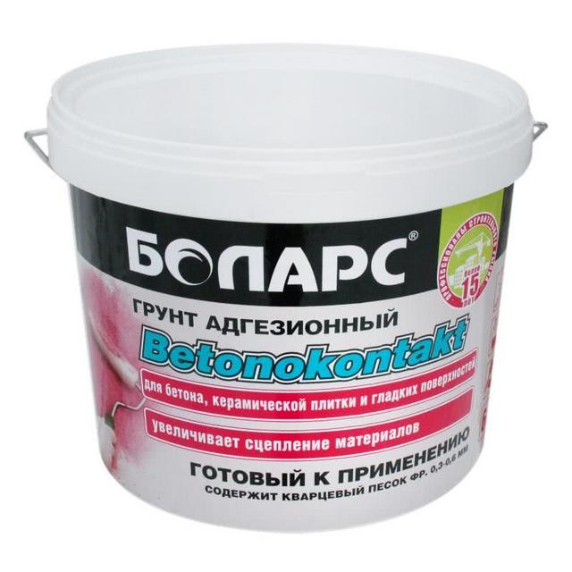 Грунт типа «бетоноконтакт» — позволяет обойтись без механической обработки поверхности. Правда, за дополнительную плату, поскольку не столь дешев.