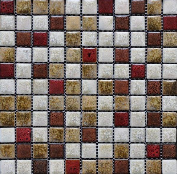 Керамическая мозаичная плитка на сетчатом основании