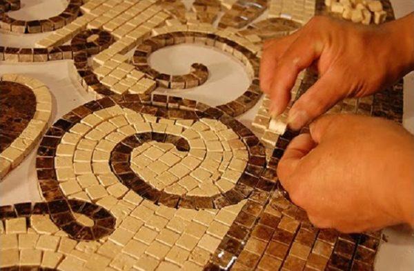 Создание мозаичного панно по традиционной технологии