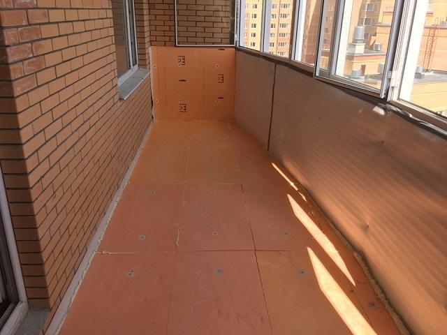 Утепление пола на балконе пеноплексом