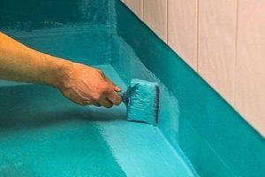Резиновая краска особенности и применение