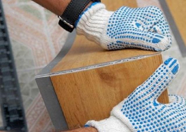 Раскрой виниловой плитки