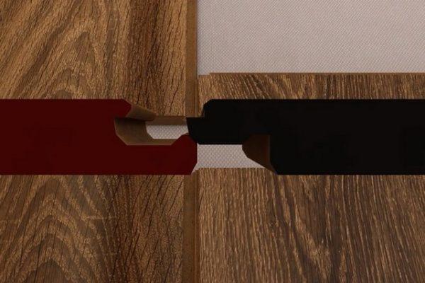 Чтобы было понятнее – вот разрез профиля досок, приготовленных ко взаимному зацеплению в замке