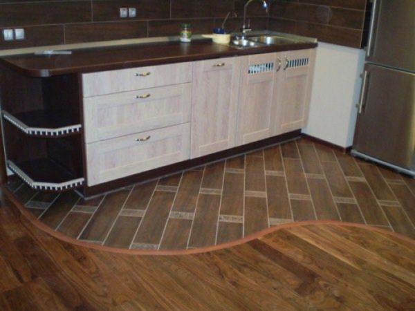 Гармоничное сочетание ламината с кухонным интерьером