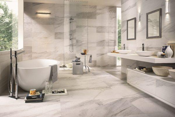 Использование кварц-винила в ванной комнате – практичное решение для помещений с высокой влажностью