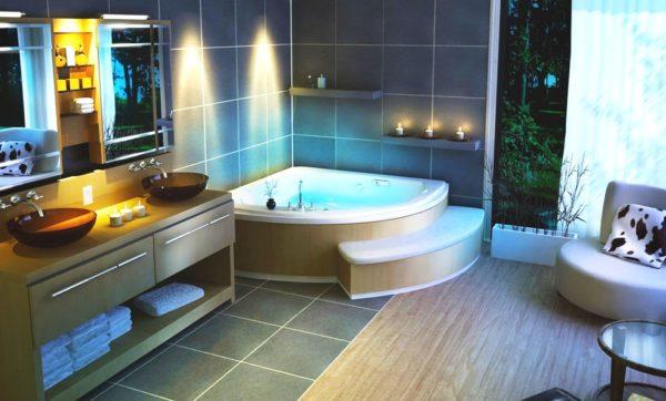 Водостойкое ламинатное покрытие в ванной комнате