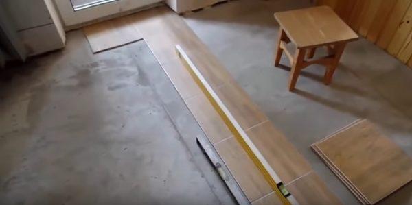 Подготовка пола под ПВХ плитку