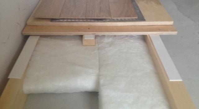 Шумоизоляционная лента для крепления на лаги