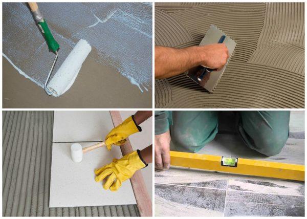 Даже не имея особенного опыта, можно самостоятельно приклеить плитку к полу, следуя советам мастеров