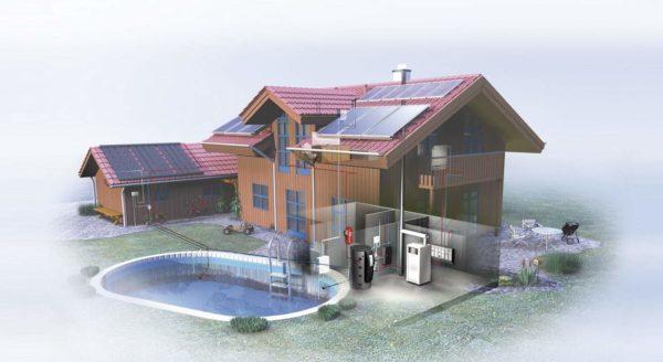 Пример дома с водяным отоплением