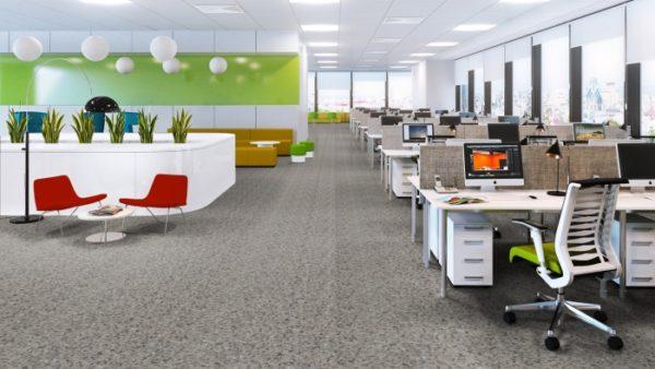 Токопроводящий линолеум в офисном помещении
